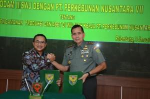 Kodam II/SWJ Dan PTPN VII Lanjutkan Kerjasama