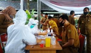 Selain Pejabat Pemkot, Puluhan Pegawai Dishub Juga Dirapid Test