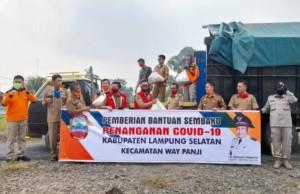 Pemkab Lamsel Distribusikan Bantuan Sembako