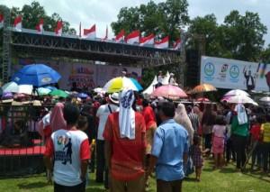 Ratusan Pendukung Jokowi Di Metro Mulai Padati Lokasi Deklarasi