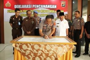 Polresta Deklarasi Menuju Wilayah Bebas Korupsi
