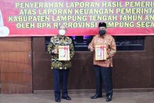 Lampung Tengah Kembali Raih Opini WTP Dari BPK