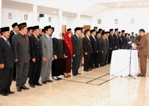 103 Pejabat Di Kabupaten Lambar Dilantik