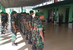 10 Anggota TNI Waykanan Naik Pangkat
