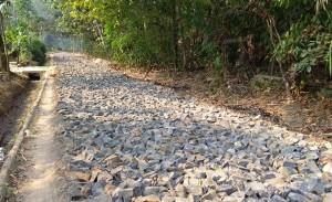 DD Tahun 2018, Tiyuh Tirtamakmur Bangun Jalan 990 Meter