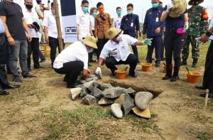 Gubernur Resmikan Dimulainya Pembangunan Kampus ATMI Tubaba