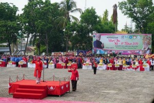 Hari Ibu Di Lampung Selatan, Semua Petugas Upacara Wanita