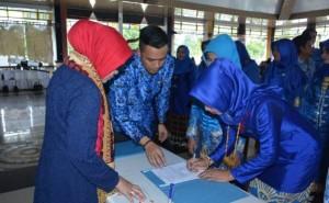 Pelantikan Ketua TP PKK Dan Bunda PAUD Kecamatan Di Kabupaten Lamteng