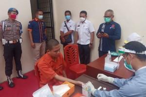 Polres Lamtim Rapid Test Seluruh Tahanan