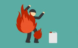 KDRT, Pasangan Suami Istri Terbakar