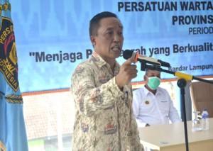 Mewakili Gubernur, Kadiskominfotik Lampung Buka Konferensi Kerja PWI