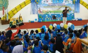 Ratusan Anak Meriahkan Gebyar PAUD Di Pringsewu