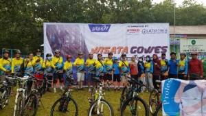 Ratusan Sepeda Meriahkan Wisata Gowes PTPN VII