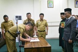 Mertadinata Dilantik Jadi Kepala PDAM Wayguruh Lampung Timur