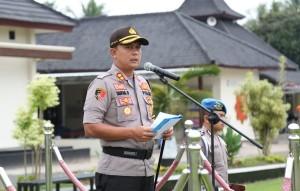 Apel Linmas, Seorang Polisi Menjaga Empat TPS