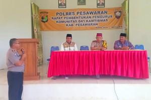 Polres Pesawaran Bentuk Komunitas Dai Kamtibmas
