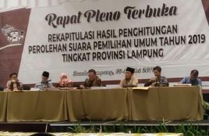 Ini Hasil Pleno KPU Lampung Untuk DPRD, DPR Dan DPD RI