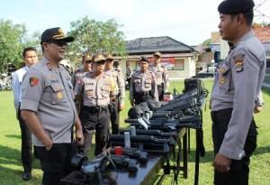 Polres Waykanan Periksa Kesiapan Pengamanan Pilkada