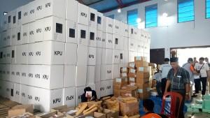 KPU Pesisir Barat Mulai Kemasi Logistik Pemilu