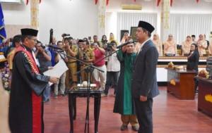 Tondi Muammar Gaddafi Nasution Sah Pimpin DPRD Metro