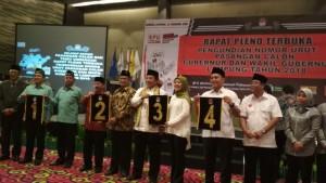 Ini Nomor Urut Paslon Pilgub Lampung