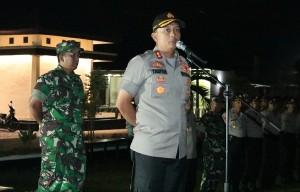 Polisi Dan Tentara Di Lamtim Apel Siaga Bersama