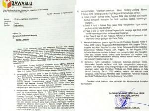 Bawaslu Surati Camat, Candrawansyah: Jaga Netralitas ASN