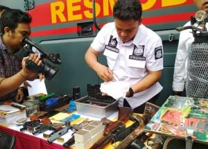 Polda Lampung Ungkap Pabrik Senpi Rakitan Di Metro