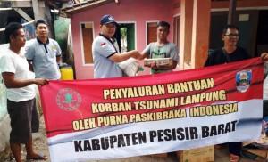 PPI Pesibar Salurkan Bantuan Untuk Korban Tsunami Lamsel