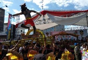 Atraksi Ogoh-Ogoh Meriahkan Pawai Budaya HUT Pringsewu