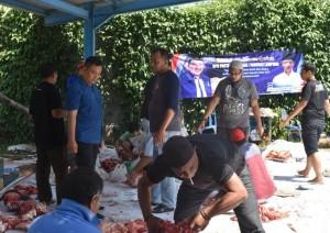 DPD Demokrat Lampung Kurban Empat Sapi Dan Lima Kambing