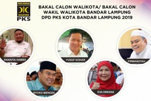 Lima Balonkada Bandarlampung Memperebutkan Rekomendasi PKS
