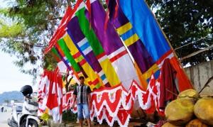 Pedagang Bendera Asal Luar Lampung Marak Di Bandarlampung