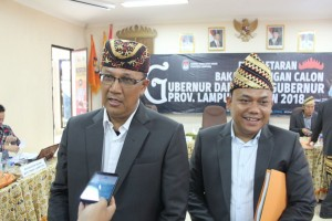 Pilgub Lampung, Dua Pasangan Pendaftar Belum Lolos Administrasi
