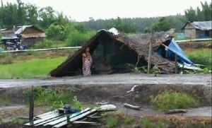15 Rumah Di Rawajitu Selatan Porakporanda Diterjang Puting Beliung