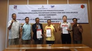 Bank Lampung  Kerja Sama Penyimpanan Data Aplikasi