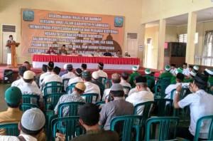 Tangkal Pengaruh Paham Radikal, Umat Islam Pesawaran Deklarasi Perkuat Persatuan