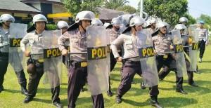 Polres Lampung Barat Intensifkan Latihan Pengendalian Massa