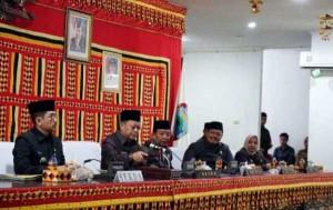 Pemkab Lamsel Sampaikan Raperda APBD Perubahan Tahun 2019.