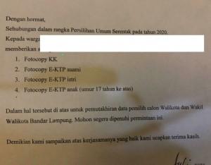Bawaslu Selidiki Pengoordiniran KK-KTP Oleh Oknum Ketua RT