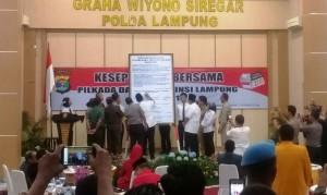 Deklarasi Damai, Kapolda Apresiasi Keakraban Bacagub Lampung