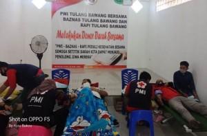 PWI Tulangbawang Bersama BAZNAS Dan RAPI Baksos Donor Darah