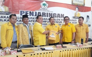 Golkar Lampung Timur Serahkan Berkas 8 Balonkada Ke Golkar Provinsi