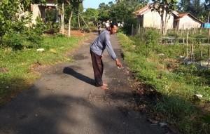 Baru Seumur Jagung, Jalan Kenanga V Sudah Rusak