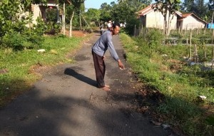 Lurah Karangrejo Dukung Warganya Laporkan Proyek Jalan Kenanga V