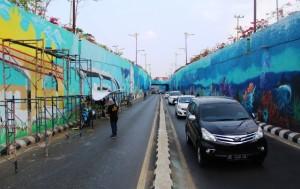 Dua Hari Lagi, Mural Underpass Unila Ditargetkan Kelar
