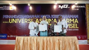 Wujudkan Kampus Digital, Telkomsel Bantu Universitas Bina Darma