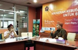 Anugerah Kebudayaan PWI, Presentasi Umar Ahmad Tuai Pujian Dewan Juri