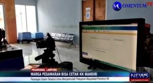 MOMENTUM TV: Asik, Warga Pesawaran Bisa Cetak KK Mandiri