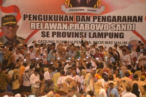 Seribuan Relawan 02 Lampung Berangkat Aksi 22 Mei